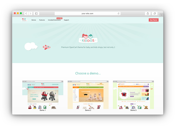 Kiddos - Hand crafted OpenCart theme