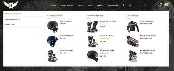 Motor online store WordPress Theme