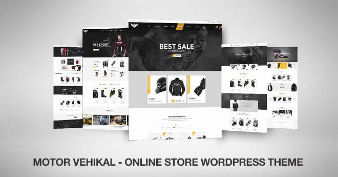 Motorcycle online store WordPress theme