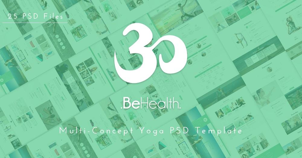 Yoga & Health center PSD Template