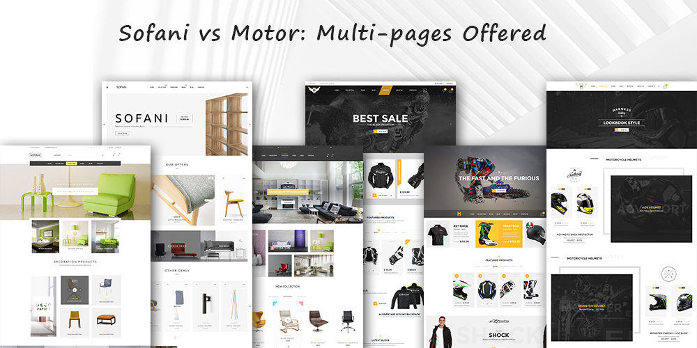 Furniture and Motorcycle online theme