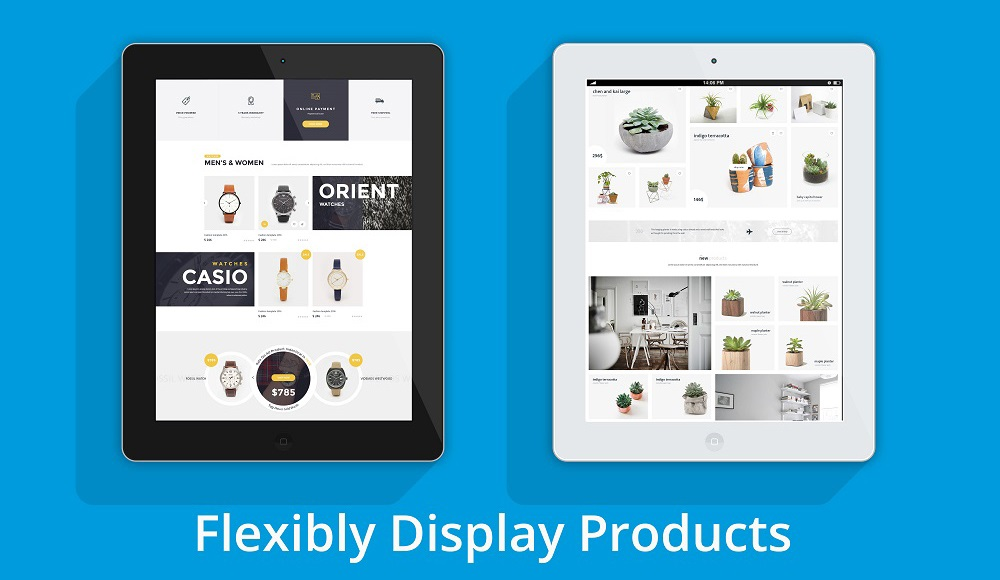 Flexible display all types of products