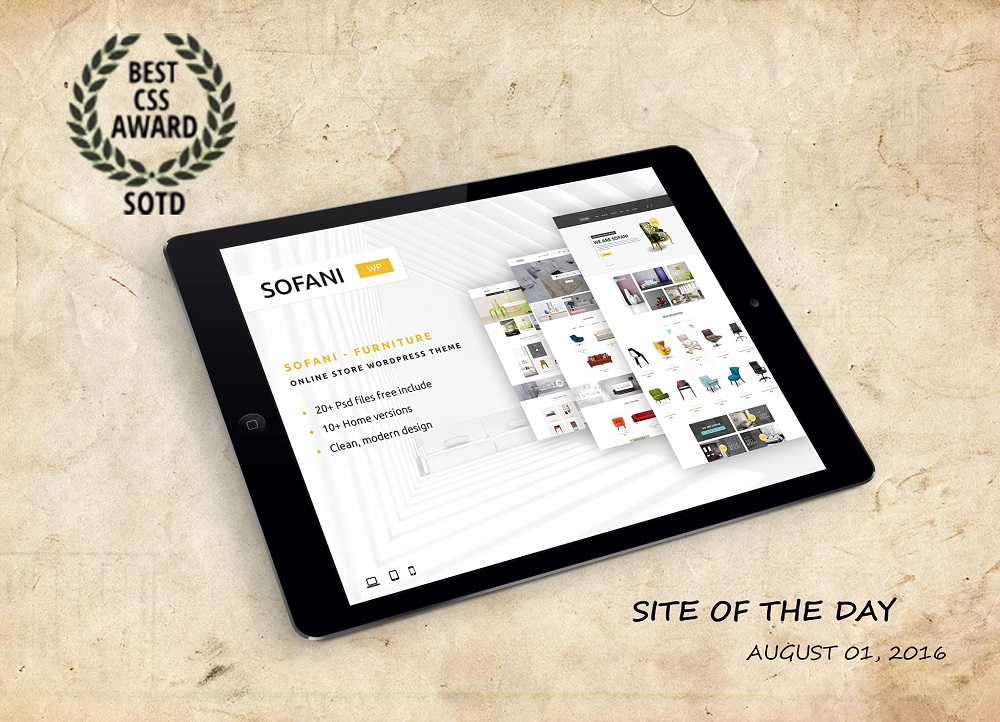 Sofani - Site of the Day award