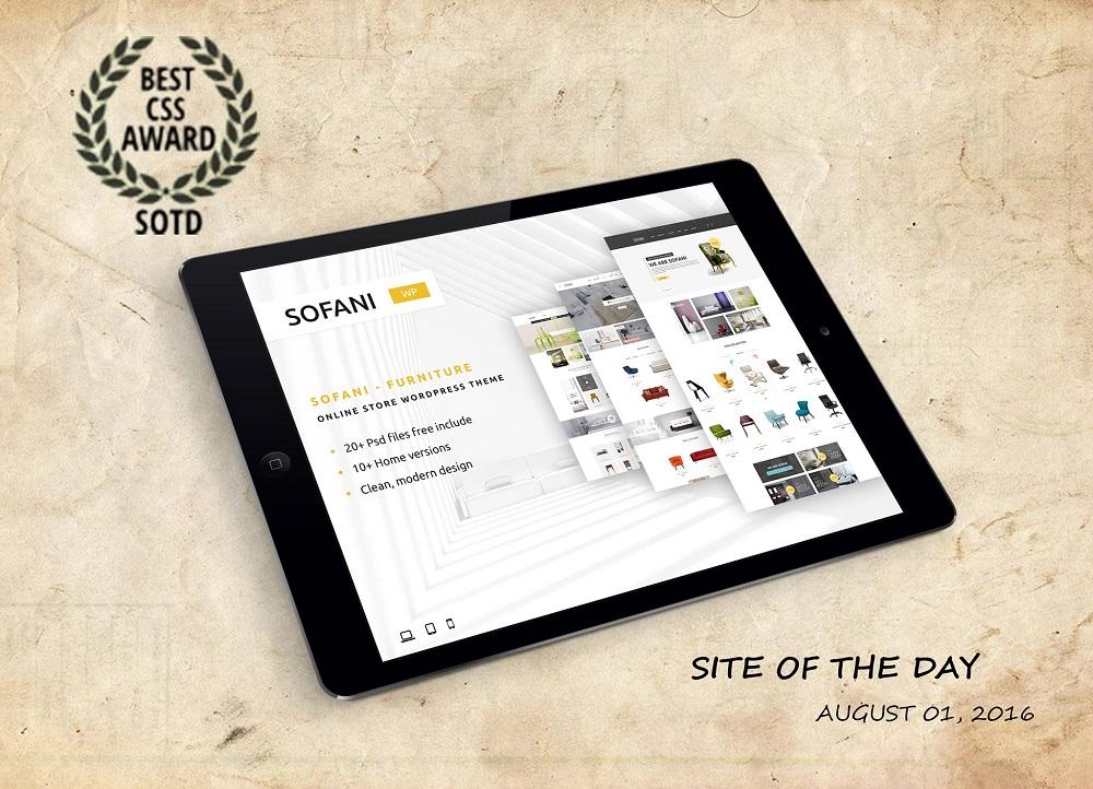 Sofani - Site of the Day award