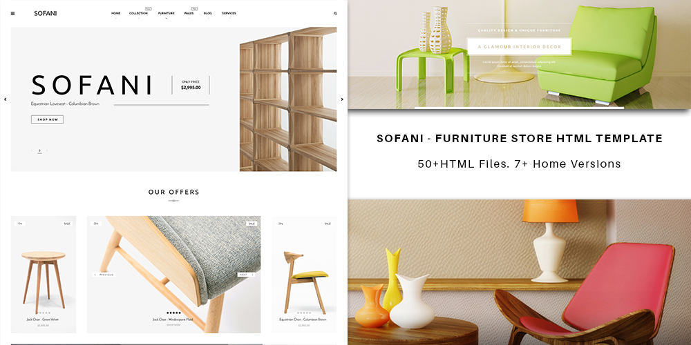 Sofani - Furniture store HTML Template