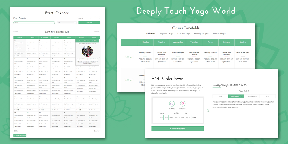 Yoga WordPress Plugin