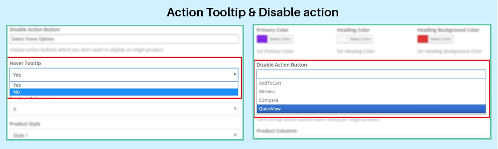 disable action