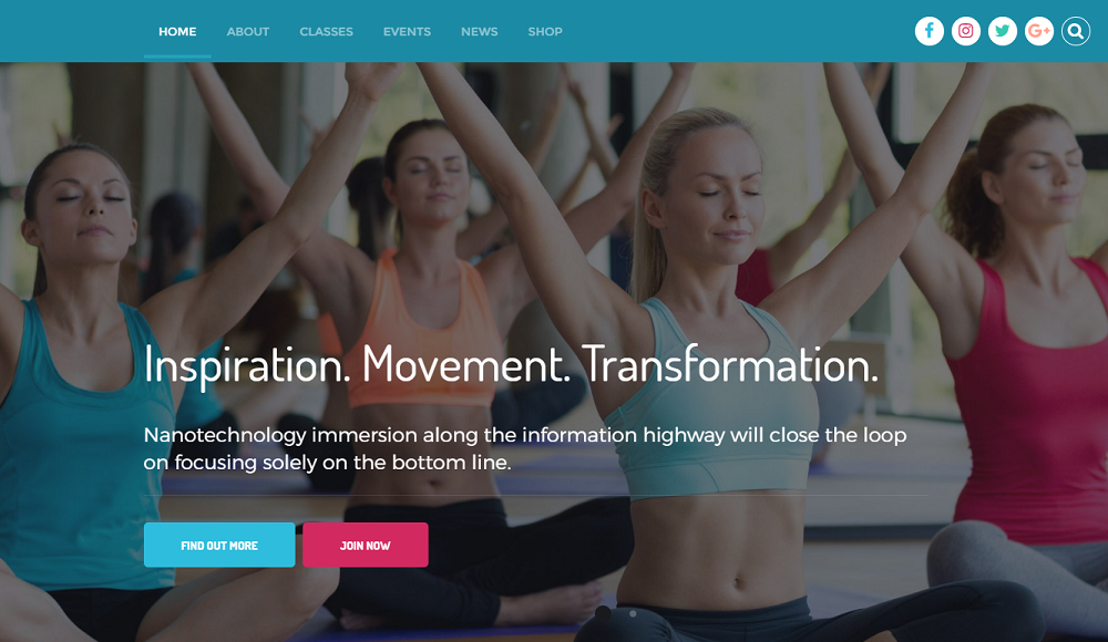 Fitness Club- Multi-functions  WordPress Theme