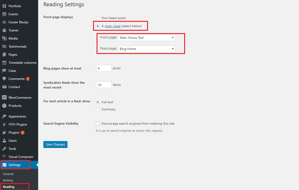 Free WordPress Theme Setting Section