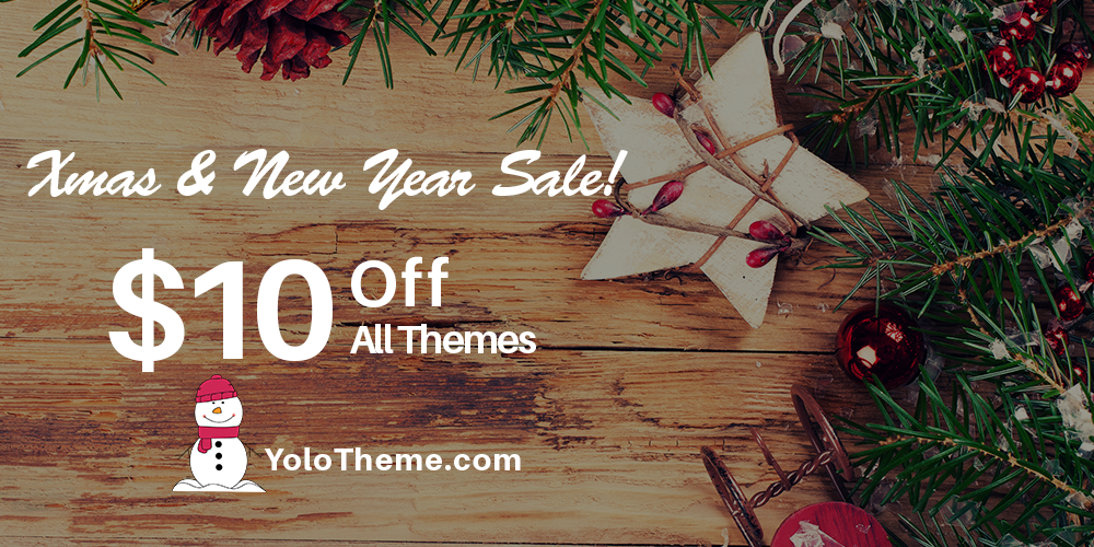 xmas new year sale get 10 off all premium wordpress themes