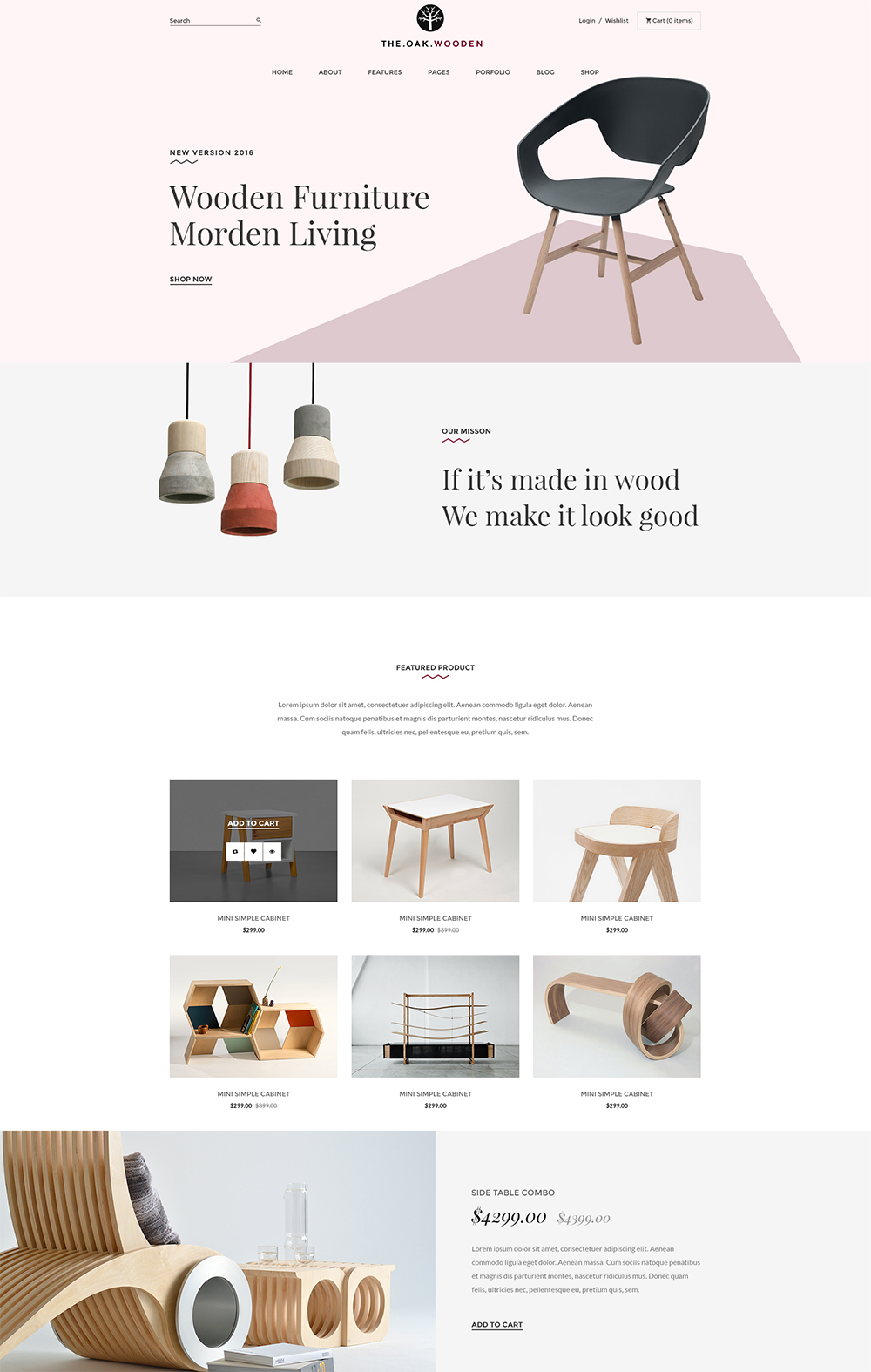 Modern Furniture WordPress Theme