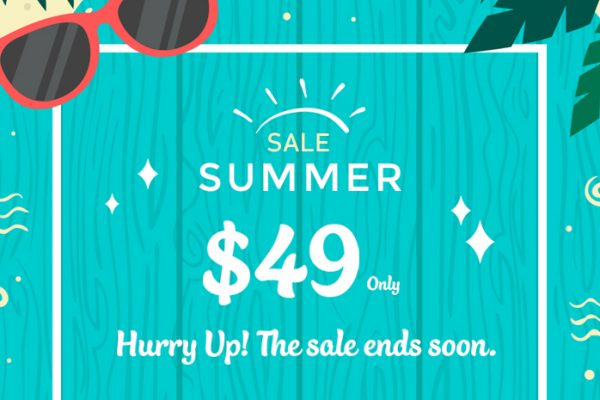 Hello Summer Sale 2018! $49 Only on Every Premium Theme