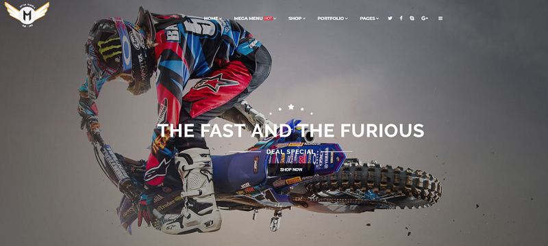 Motorcycle Online Store WordPress
