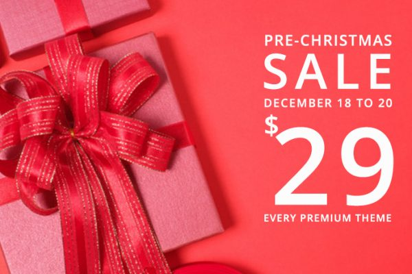 Best Christmas Sale Ever! $29 on Every WordPress Themes