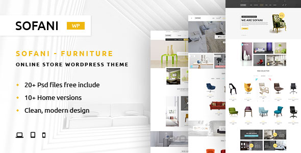 Sofani – One of the best Furniture Store WordPress Theme in 2021